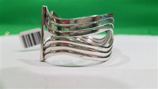 Lady's Elegant Silver Cuff Bracelet 925 Silver 37.1g